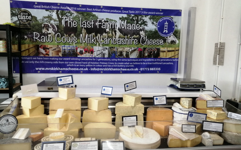 mrs kirkham cheese farm shop